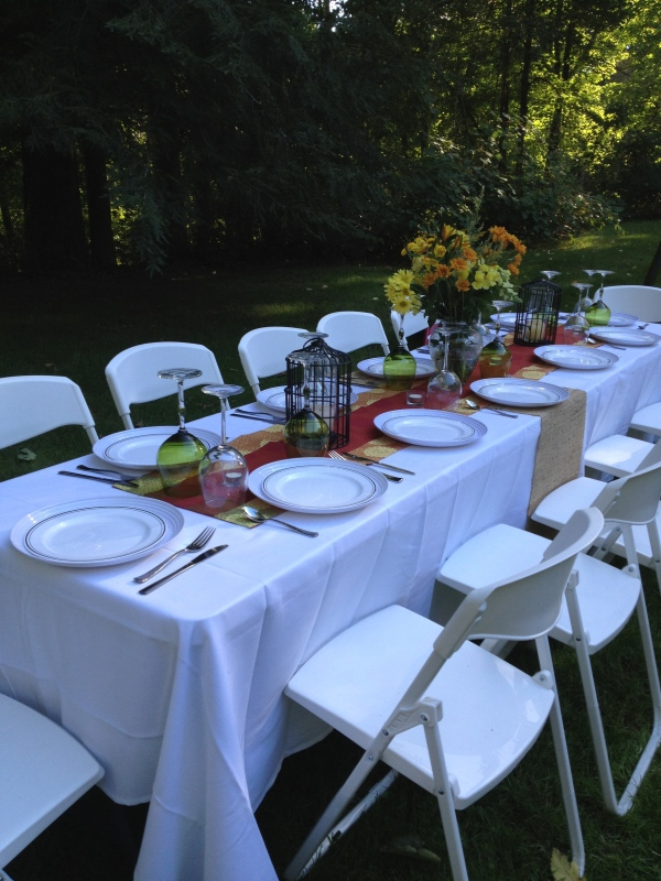 Inspiration Senses - End of Summer BBQ - Table Setting