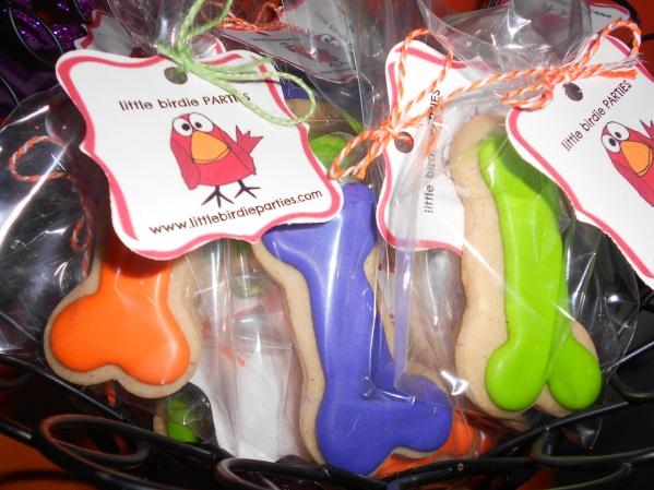 Scooby Doo Halloween Party - Bone Cookies by Little Birdie Parties