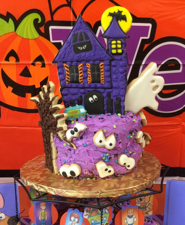 Scooby Doo Halloween Party - Mini Cake with Cookie Topper