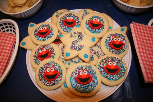 Inspiration Senses - Sesame Street Elmo Birthday cookies
