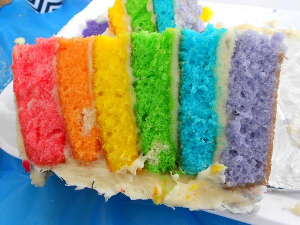 Avengers Party Rainbow Cake