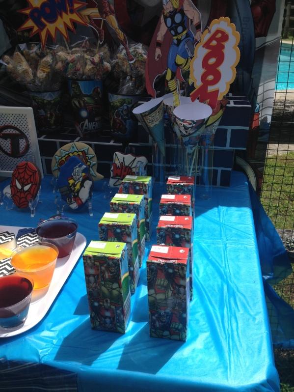 Avengers Party Juice Boxes