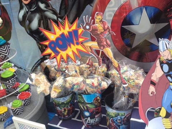 Avengers Birthday Party treats