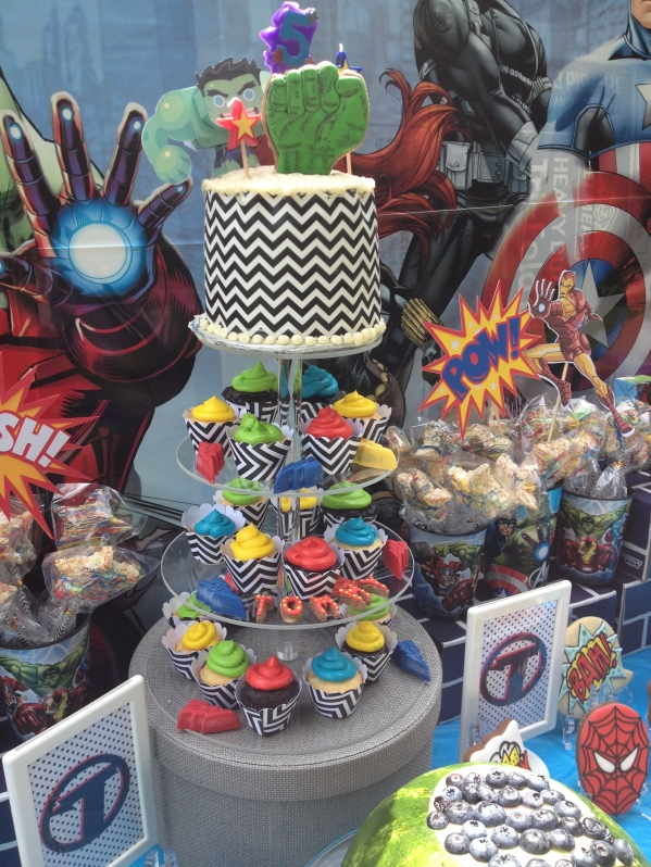 Avengers Birthday Party Desserts