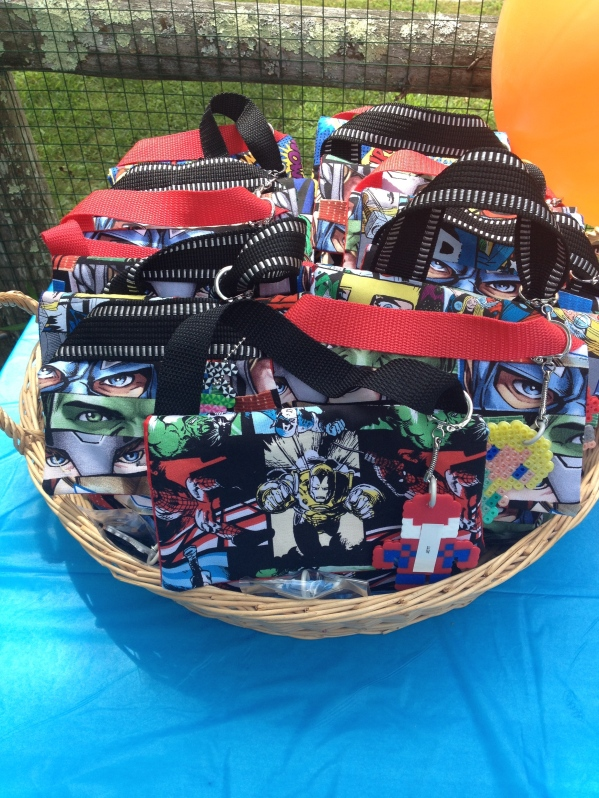 Avengers Birthday Party - Favors Basket
