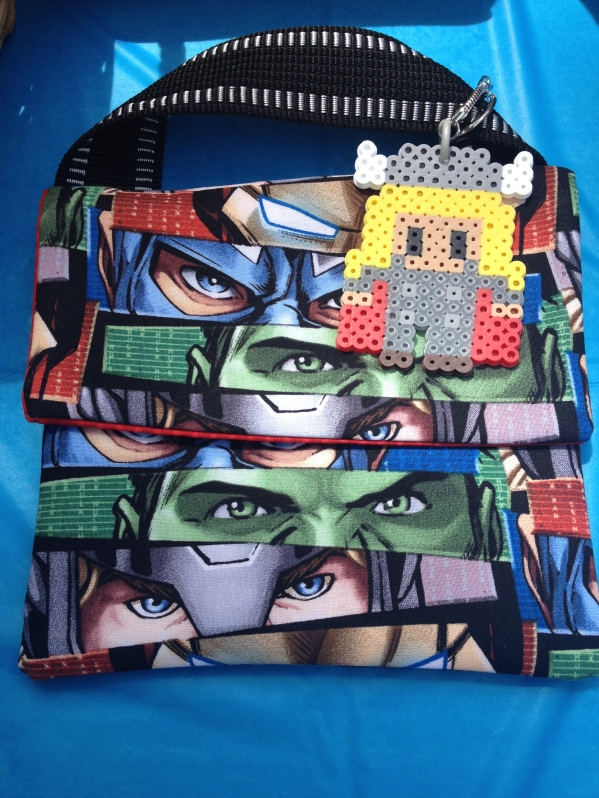 Marvel's Avengers Birthday Party - Custom Favor Bag & Keychain
