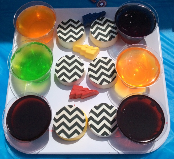 Avengers Party Cookies and Jello