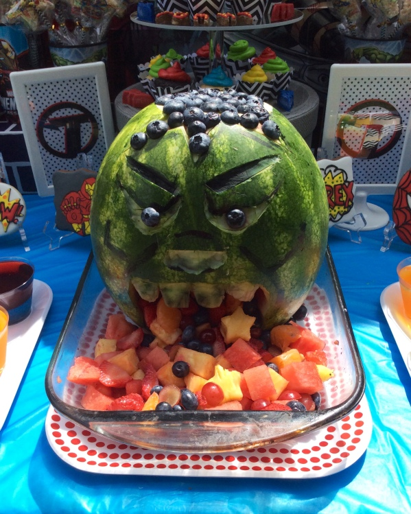 Avengers - Hulk Watermelon Carving
