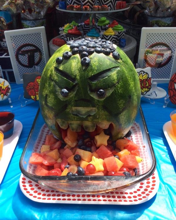 Avengers - Hulk Watermelon Carving
