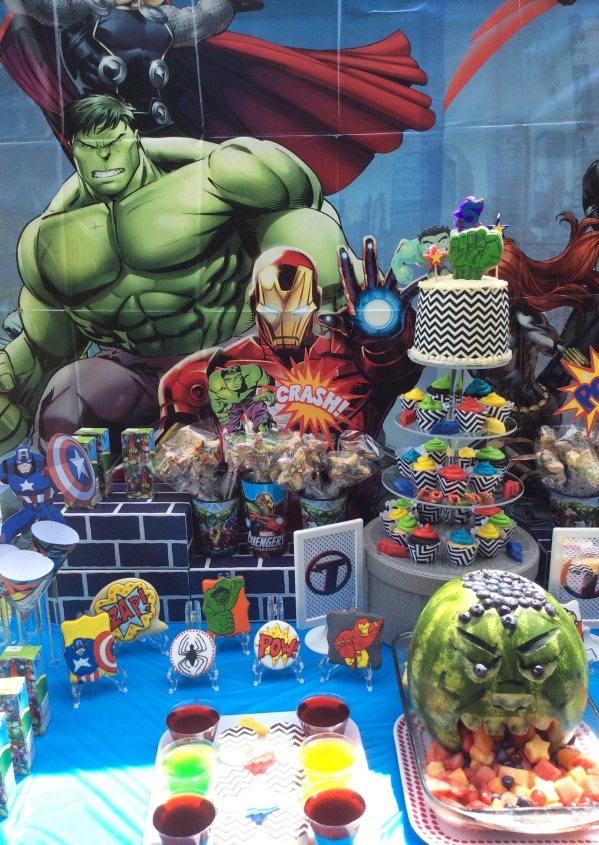 Avengers Party Treat display