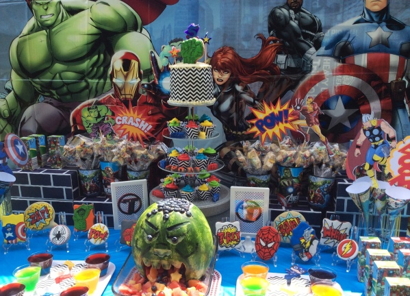 Marvel's Avengers Birthday Party Sweets