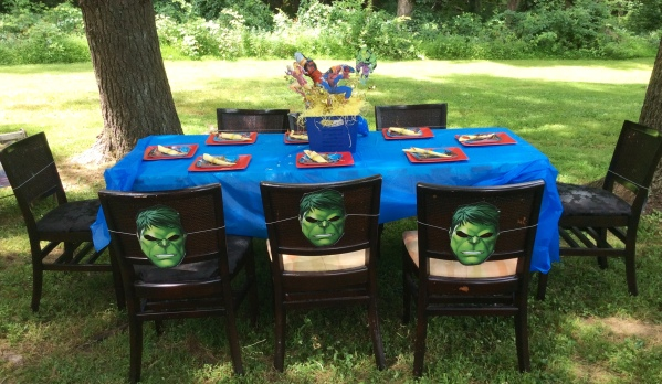Avengers Birthday Party Dining Table