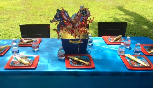 Avengers Birthday Party - Tablescape