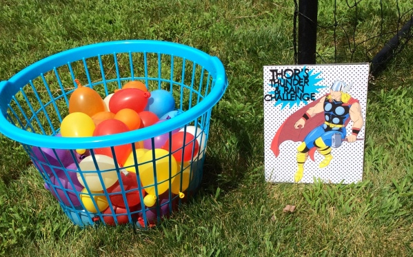 Avengers Birthday Party - Thor Water Balloon Game